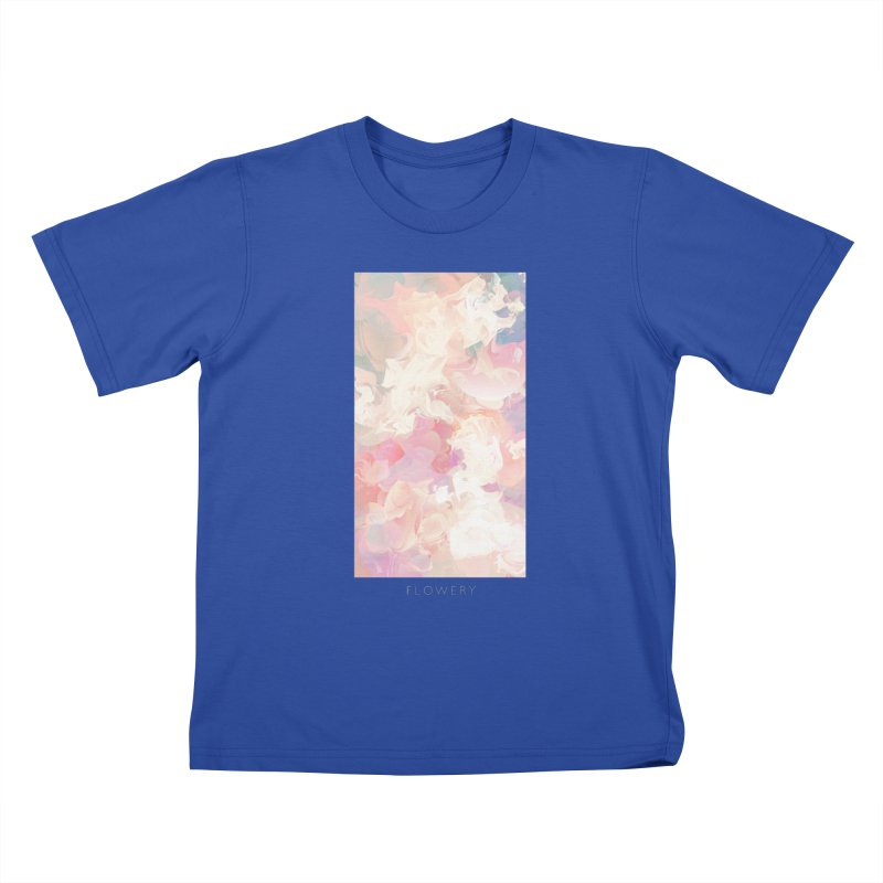 FLOWERY Kids T-Shirt by mu's Artist Shop