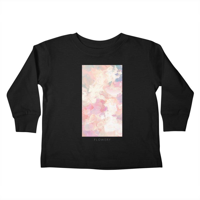FLOWERY Kids Toddler Longsleeve T-Shirt by mu's Artist Shop
