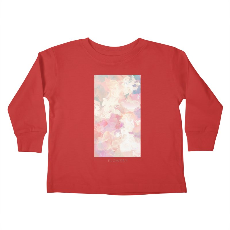 FLOWERY Kids Toddler Longsleeve T-Shirt by mu's Artist Shop