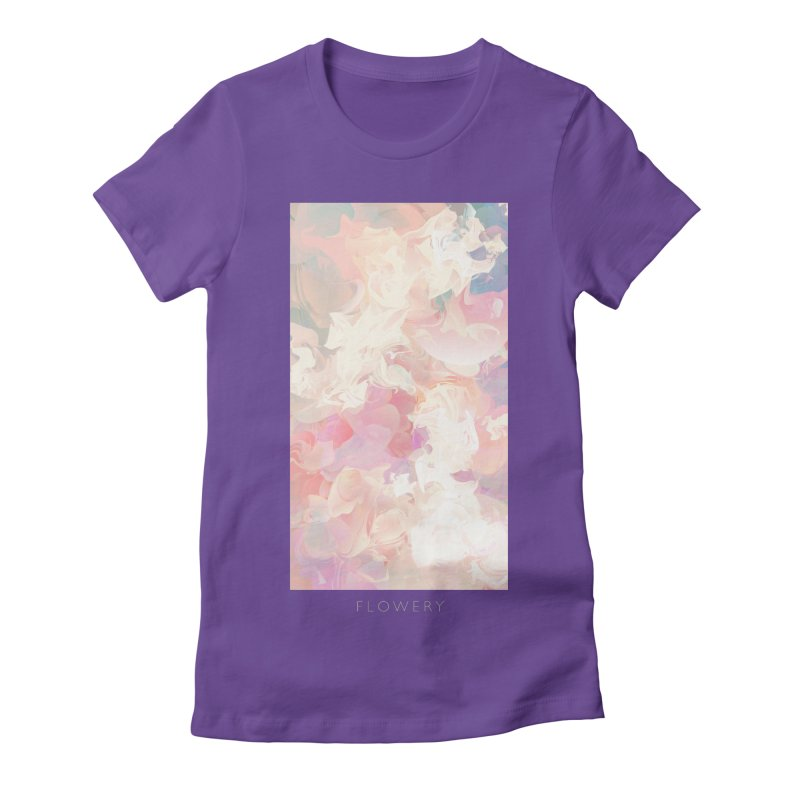 FLOWERY Women's Fitted T-Shirt by mu's Artist Shop