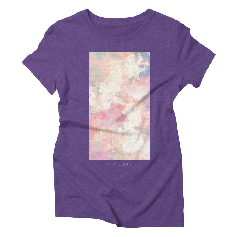 FLOWERY Women's Triblend T-Shirt by mu's Artist Shop