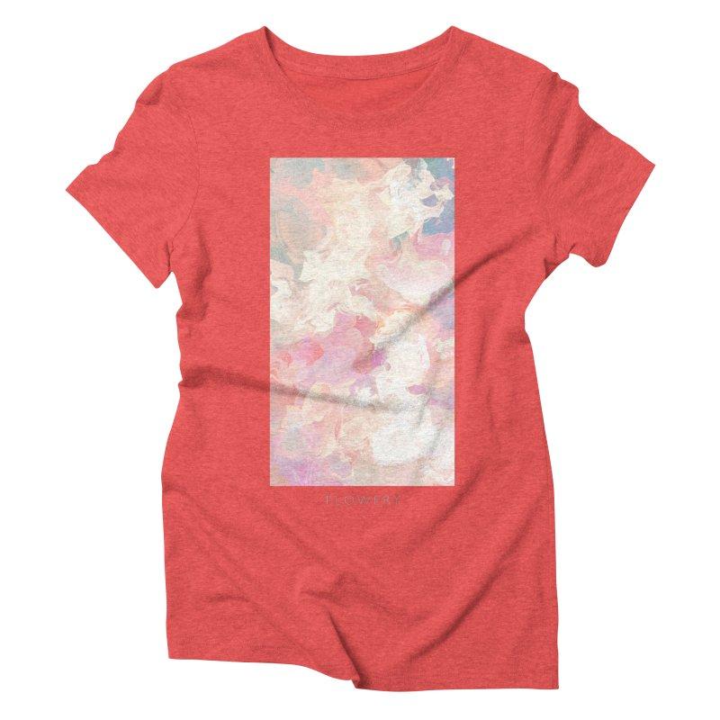 FLOWERY Women's Triblend T-Shirt by mu's Artist Shop