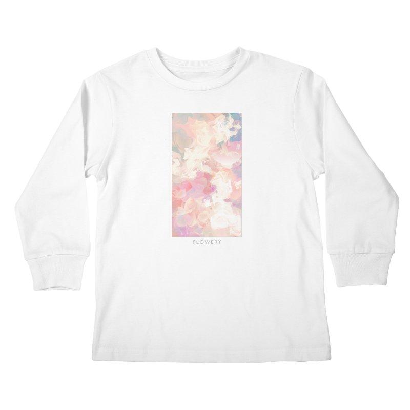 FLOWERY Kids Longsleeve T-Shirt by mu's Artist Shop