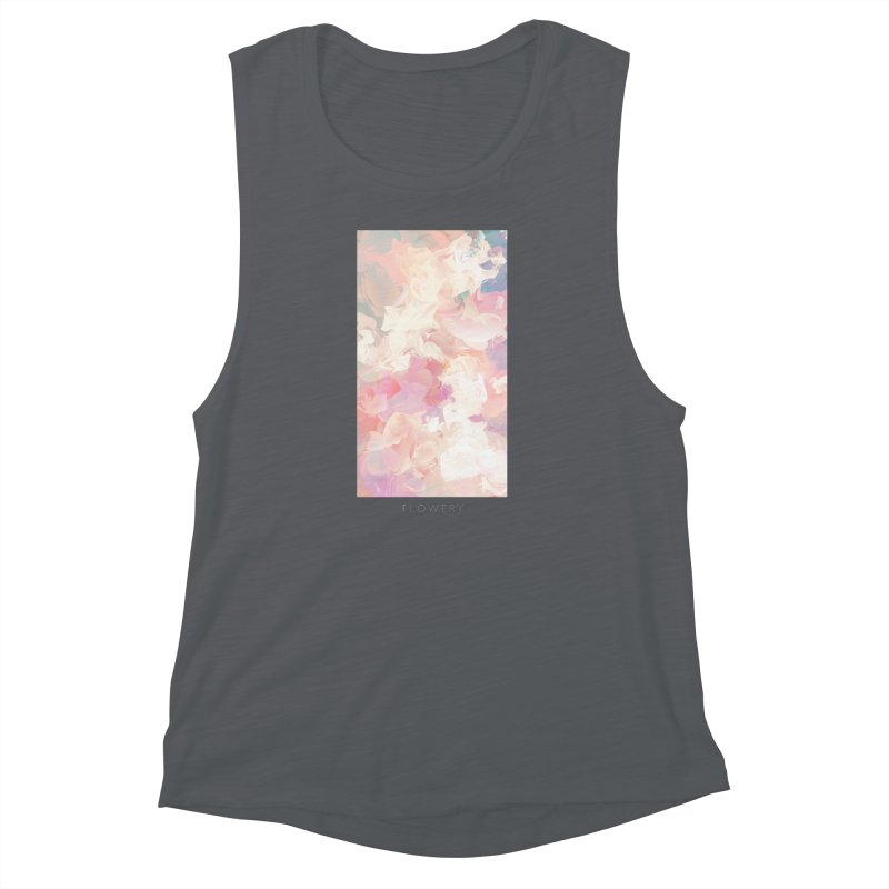 FLOWERY Women's Muscle Tank by mu's Artist Shop