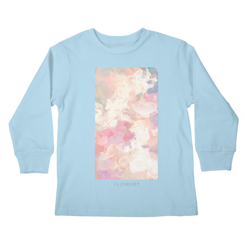 FLOWERY Kids Longsleeve T-Shirt by mu's Artist Shop