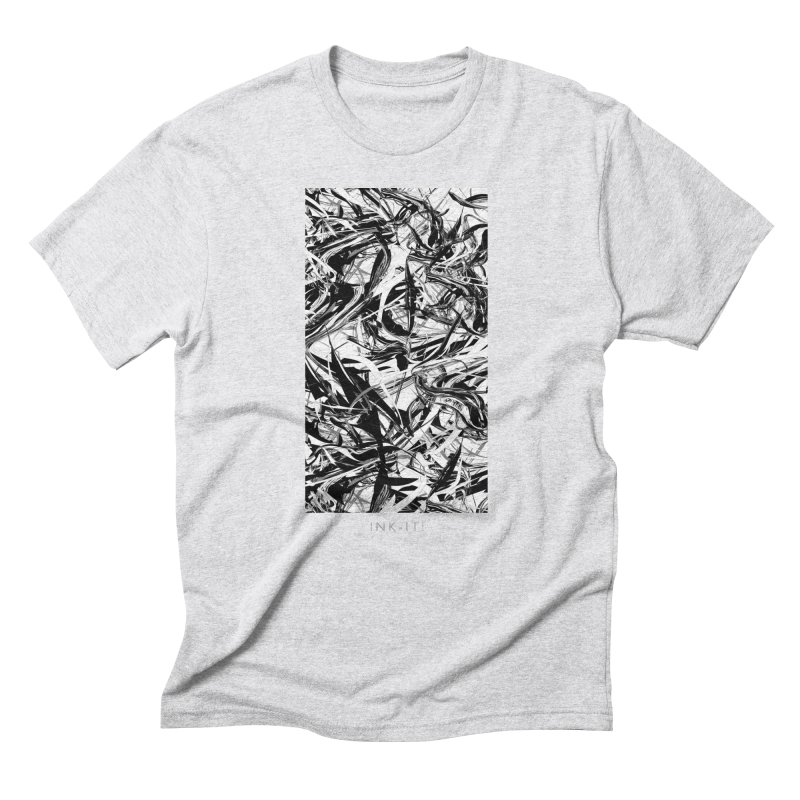 INK-IT! in Men's Triblend T-Shirt Heather White by mu's Artist Shop