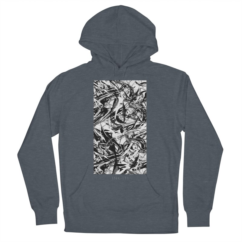 INK-IT! Men's French Terry Pullover Hoody by mu's Artist Shop