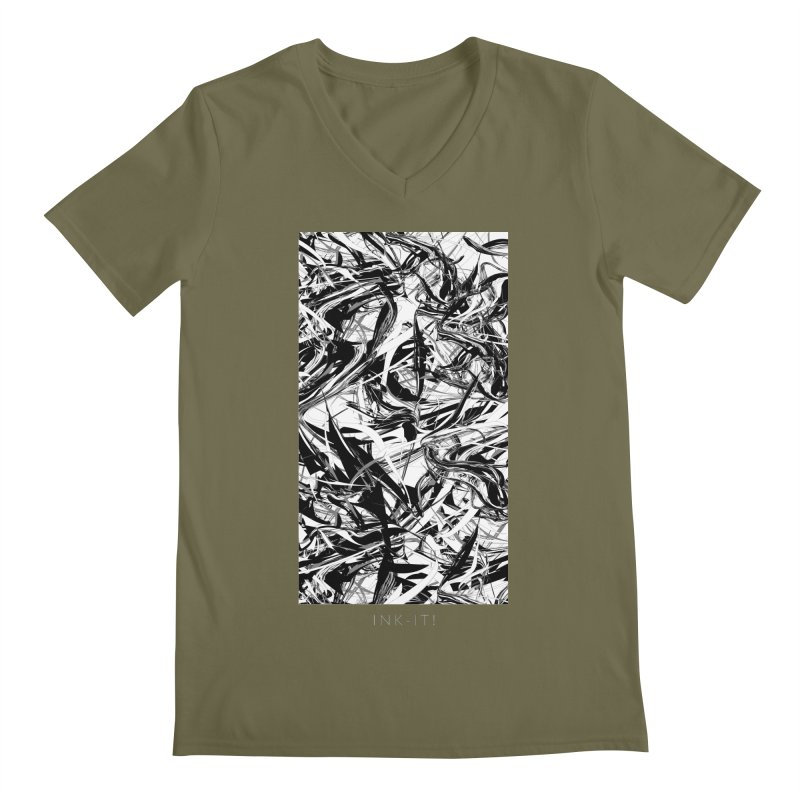 INK-IT! Men's Regular V-Neck by mu's Artist Shop