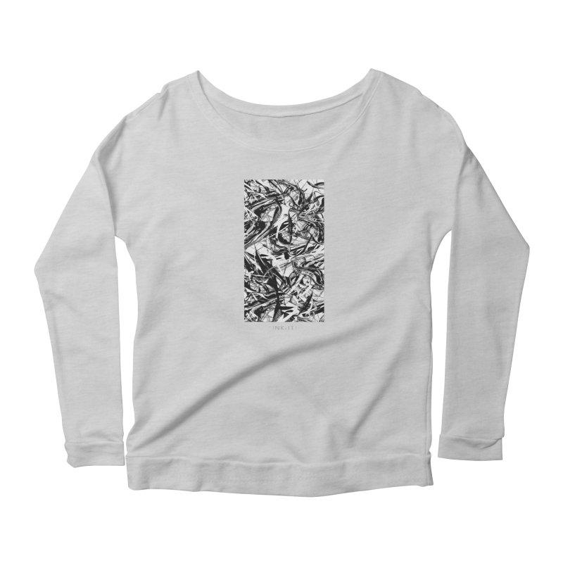 INK-IT! Women's Scoop Neck Longsleeve T-Shirt by mu's Artist Shop