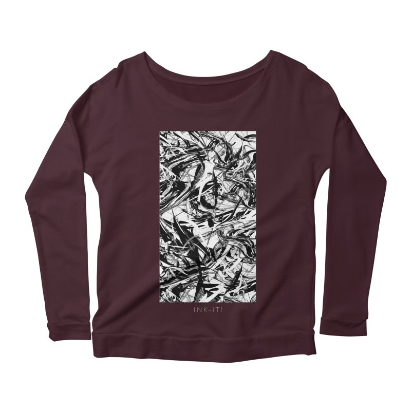 INK-IT! Women's Scoop Neck Longsleeve T-Shirt by mu's Artist Shop