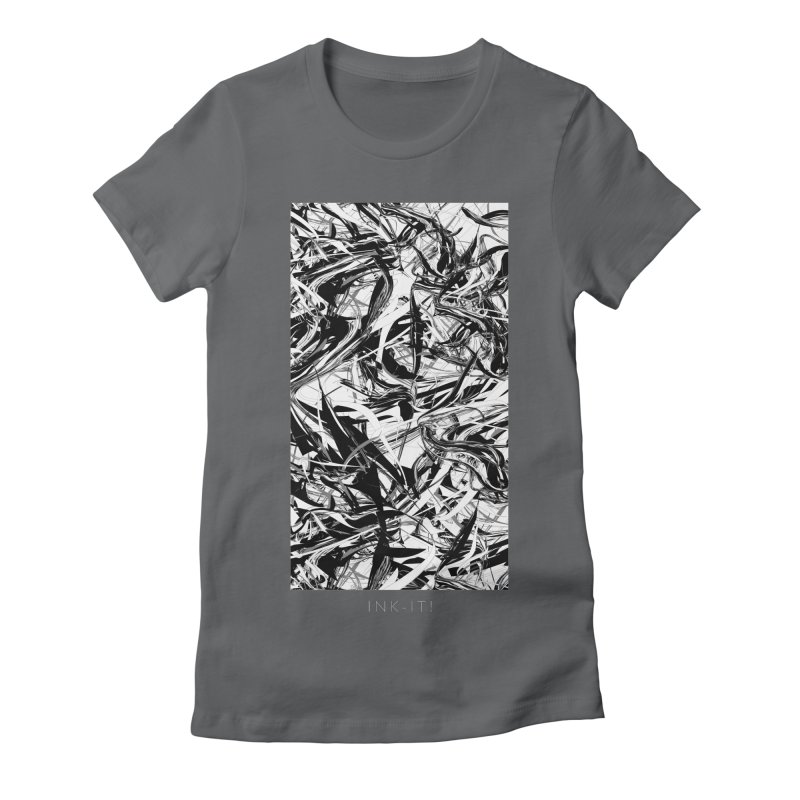 INK-IT! Women's Fitted T-Shirt by mu's Artist Shop