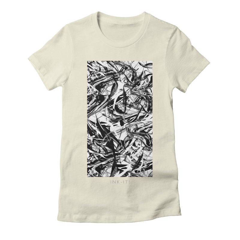 INK-IT! Women's Fitted T-Shirt by mu's Artist Shop