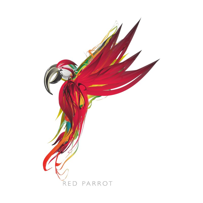 RED PARROT by mu's Artist Shop