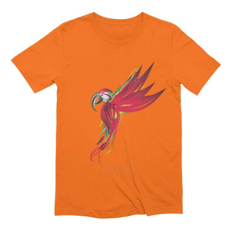 RED PARROT Men's Extra Soft T-Shirt by mu's Artist Shop