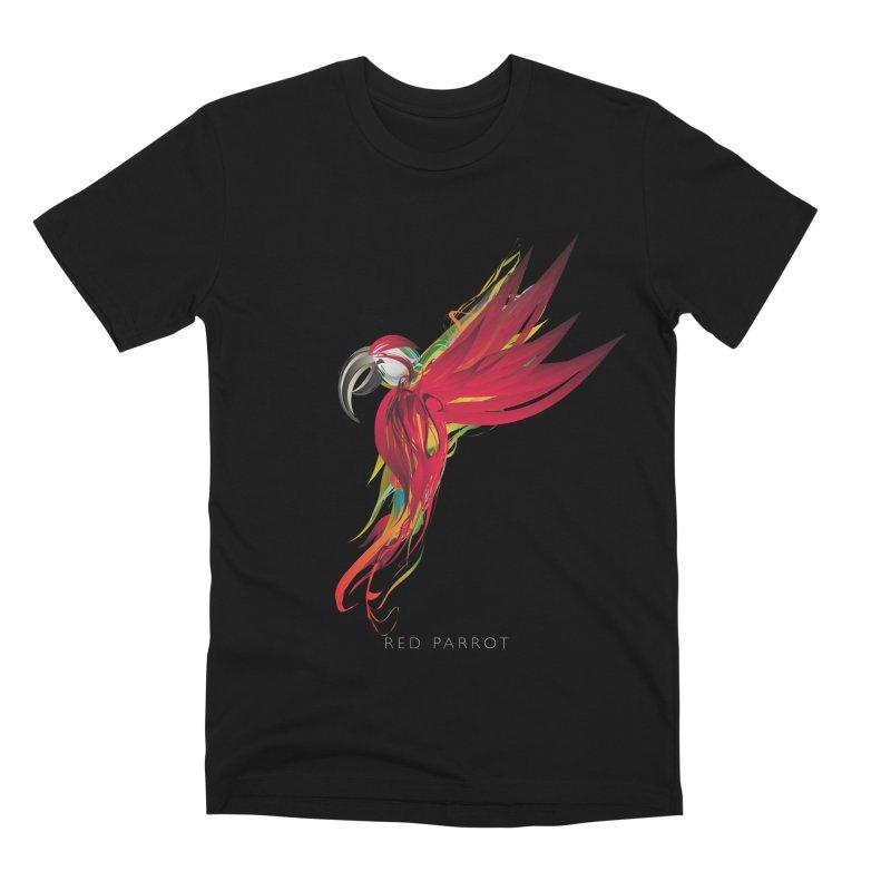 RED PARROT Men's Premium T-Shirt by mu's Artist Shop