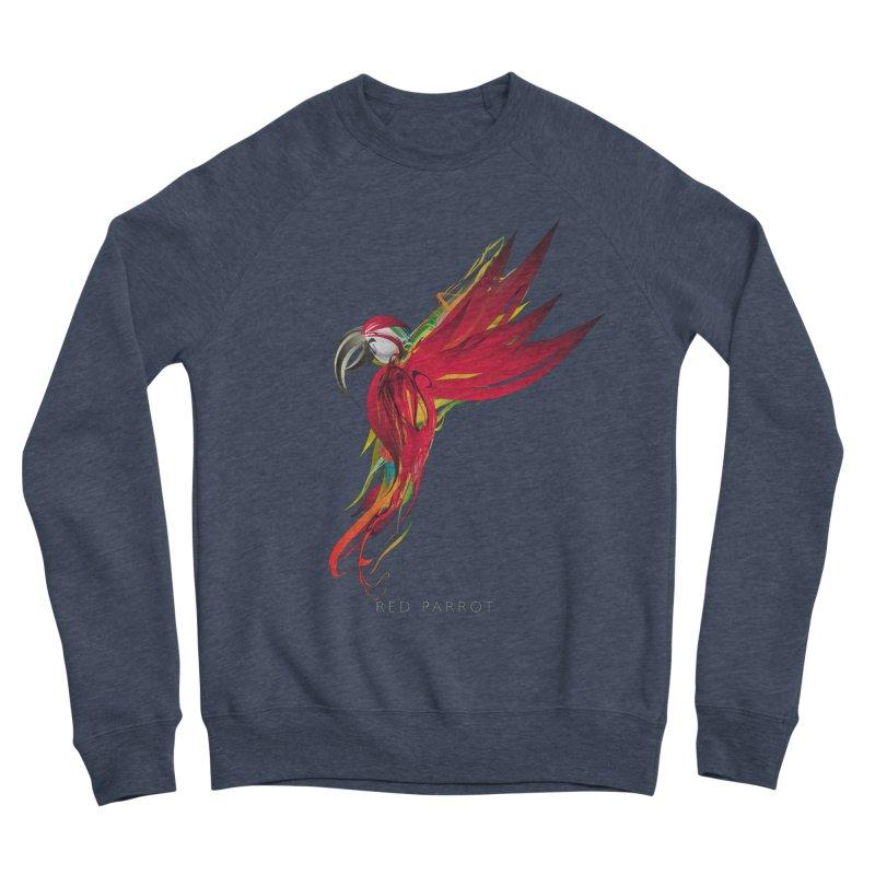 RED PARROT Men's Sponge Fleece Sweatshirt by mu's Artist Shop