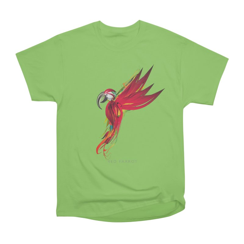 RED PARROT Men's Heavyweight T-Shirt by mu's Artist Shop