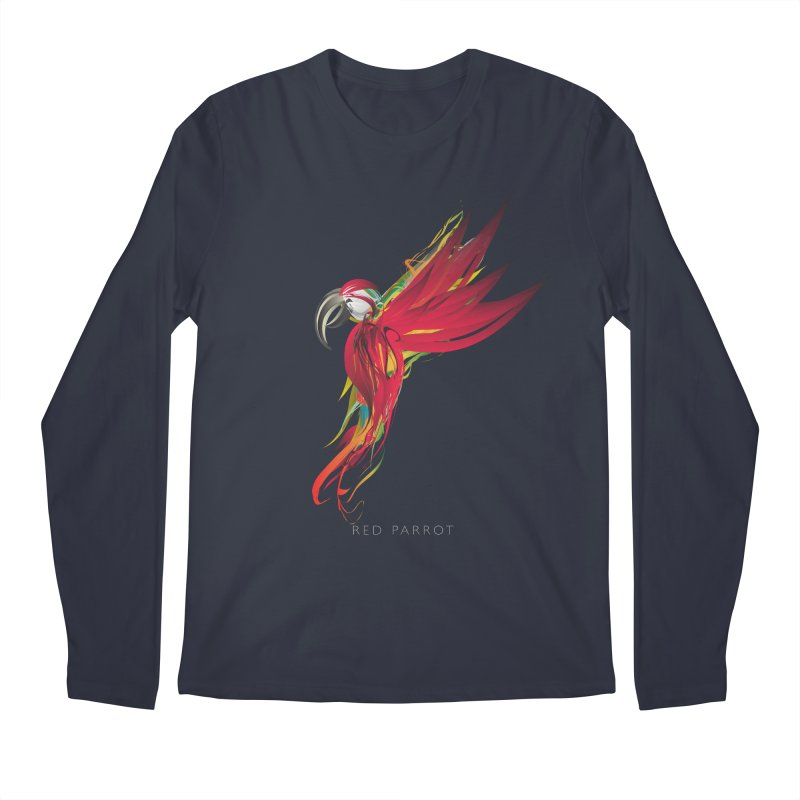 RED PARROT Men's Regular Longsleeve T-Shirt by mu's Artist Shop