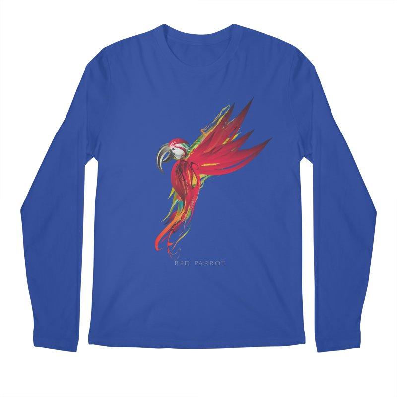 RED PARROT Men's Regular Longsleeve T-Shirt by mu's Artist Shop