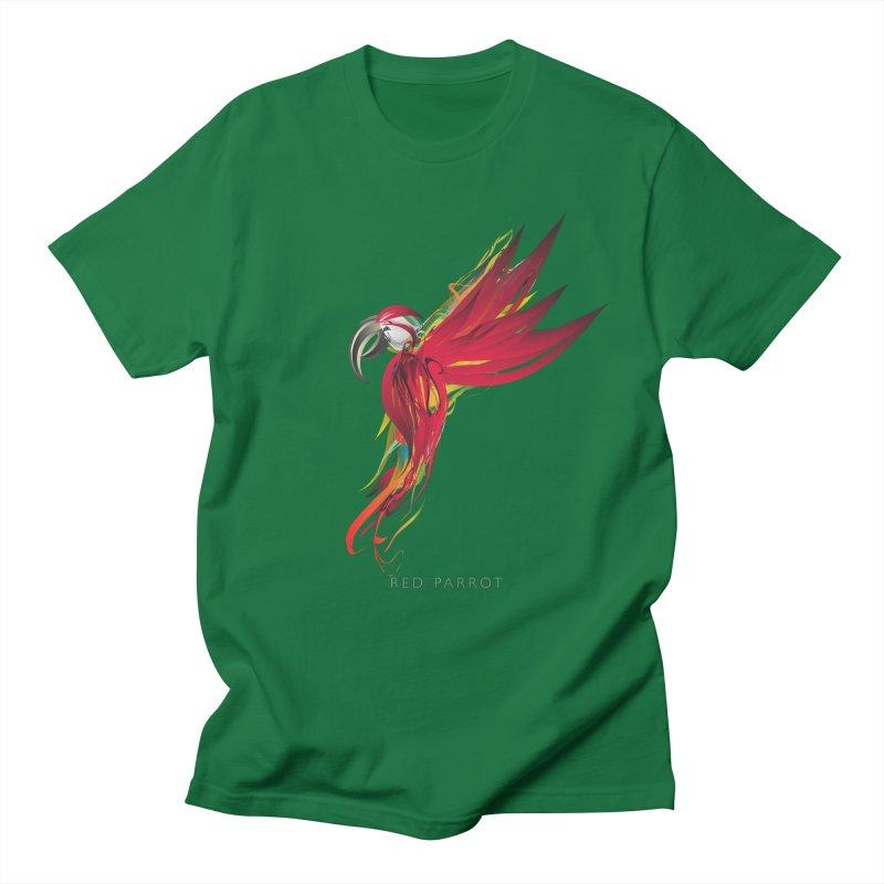 RED PARROT Women's Regular Unisex T-Shirt by mu's Artist Shop
