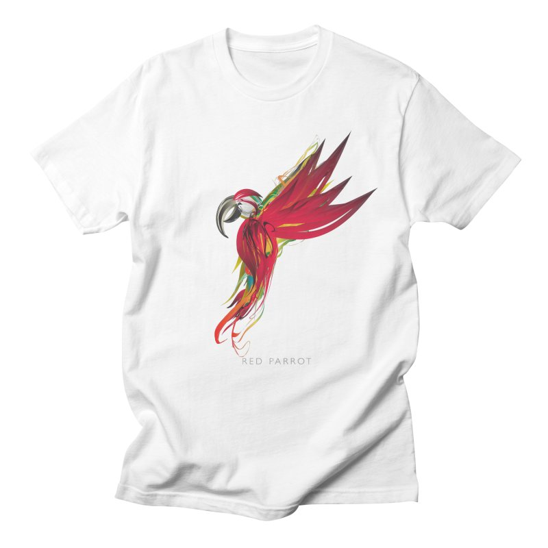 RED PARROT Men's Regular T-Shirt by mu's Artist Shop