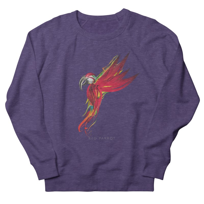 RED PARROT Women's French Terry Sweatshirt by mu's Artist Shop