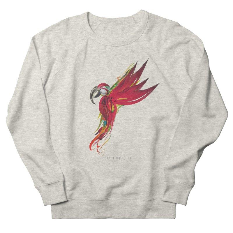 RED PARROT Women's French Terry Sweatshirt by mu's Artist Shop