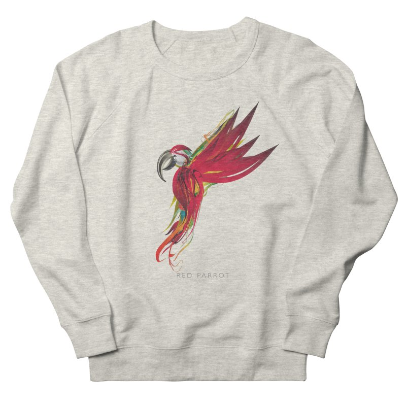 RED PARROT Men's French Terry Sweatshirt by mu's Artist Shop