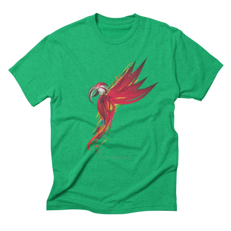 RED PARROT Men's Triblend T-Shirt by mu's Artist Shop