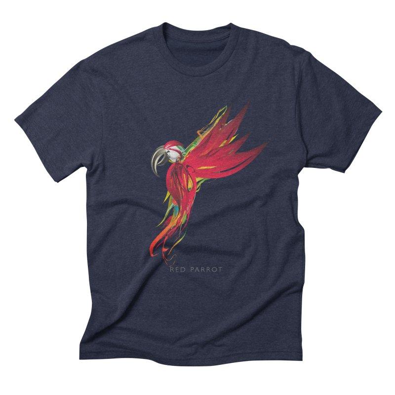 RED PARROT Men's Triblend T-Shirt by mu's Artist Shop