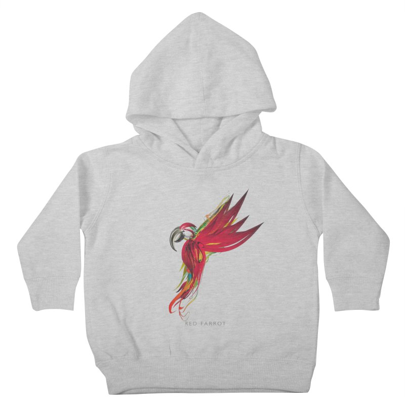 RED PARROT Kids Toddler Pullover Hoody by mu's Artist Shop