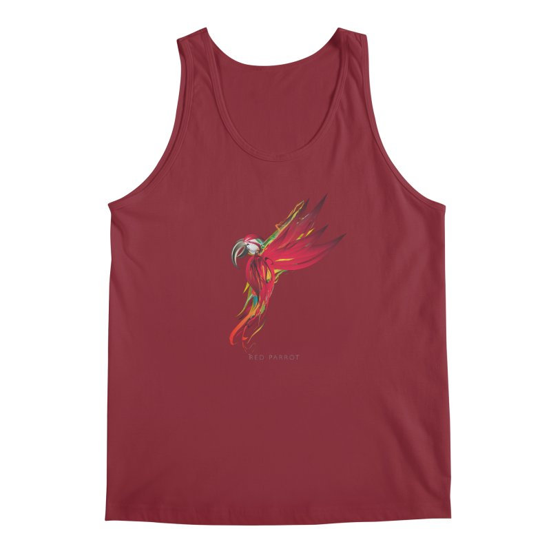 RED PARROT Men's Regular Tank by mu's Artist Shop