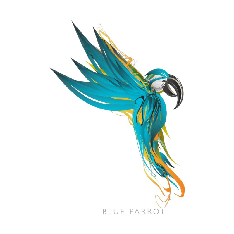 BLUE PARROT by mu's Artist Shop