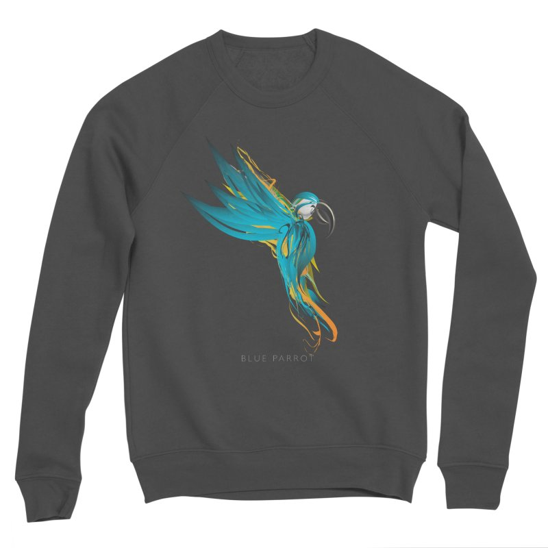 BLUE PARROT Men's Sponge Fleece Sweatshirt by mu's Artist Shop