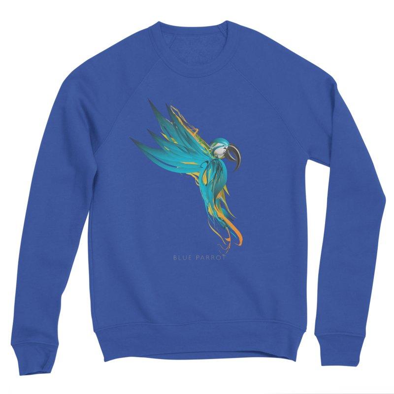 BLUE PARROT Women's Sponge Fleece Sweatshirt by mu's Artist Shop