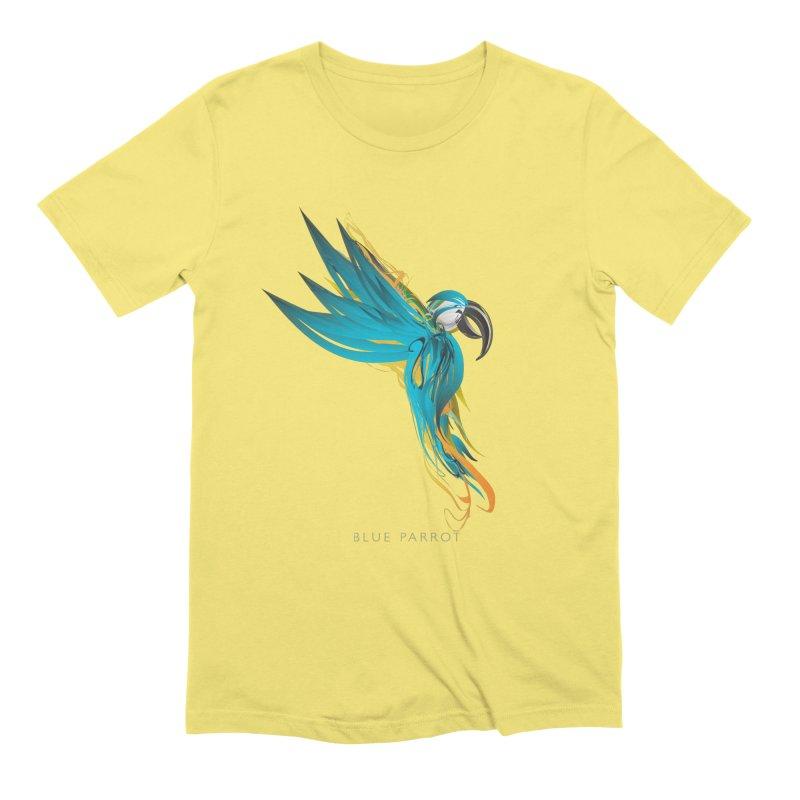 BLUE PARROT Men's Extra Soft T-Shirt by mu's Artist Shop