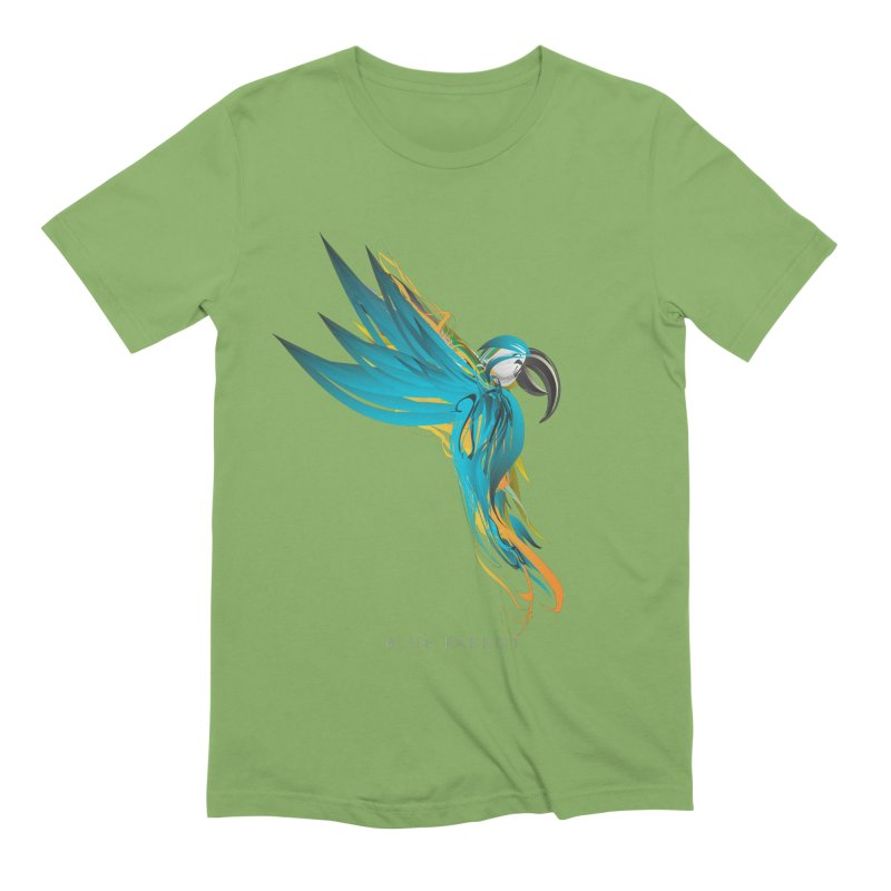 BLUE PARROT Men's Extra Soft T-Shirt by mu's Artist Shop