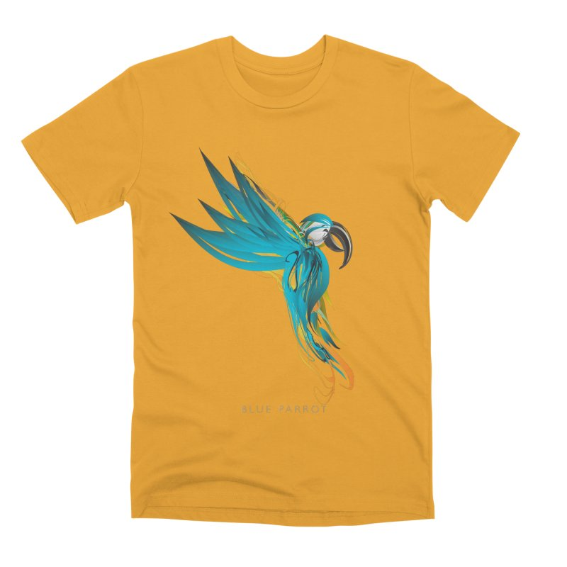 BLUE PARROT Men's Premium T-Shirt by mu's Artist Shop