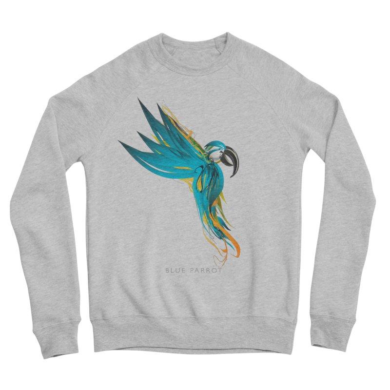 BLUE PARROT Men's Sponge Fleece Sweatshirt by mu's Artist Shop