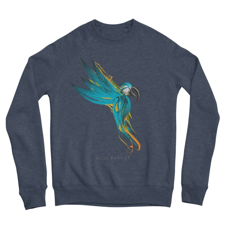BLUE PARROT Women's Sponge Fleece Sweatshirt by mu's Artist Shop