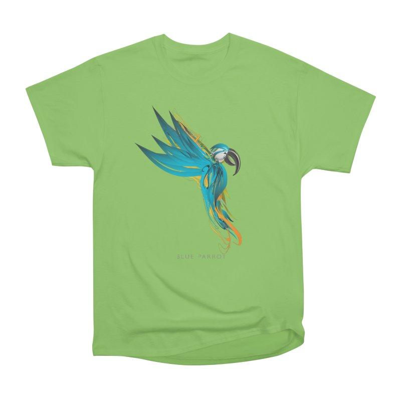 BLUE PARROT Women's Heavyweight Unisex T-Shirt by mu's Artist Shop