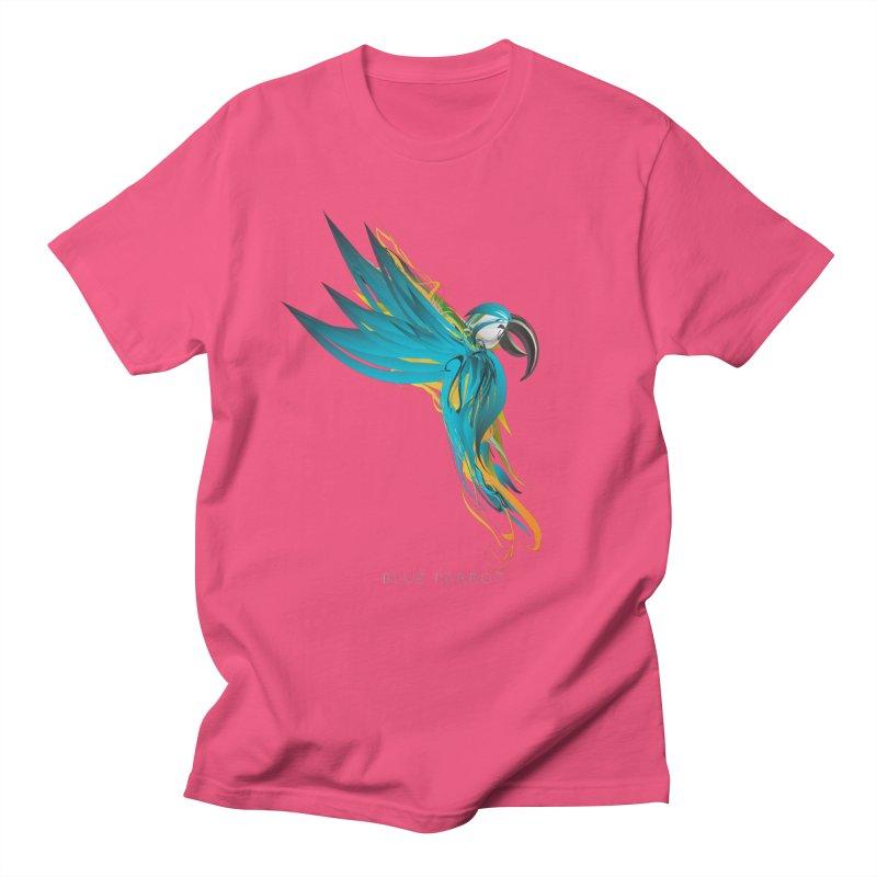 BLUE PARROT Women's Regular Unisex T-Shirt by mu's Artist Shop