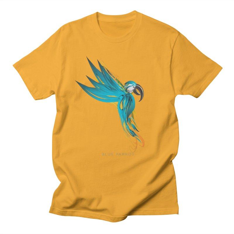 BLUE PARROT Men's Regular T-Shirt by mu's Artist Shop