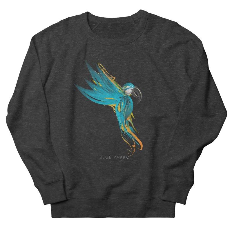 BLUE PARROT Women's French Terry Sweatshirt by mu's Artist Shop