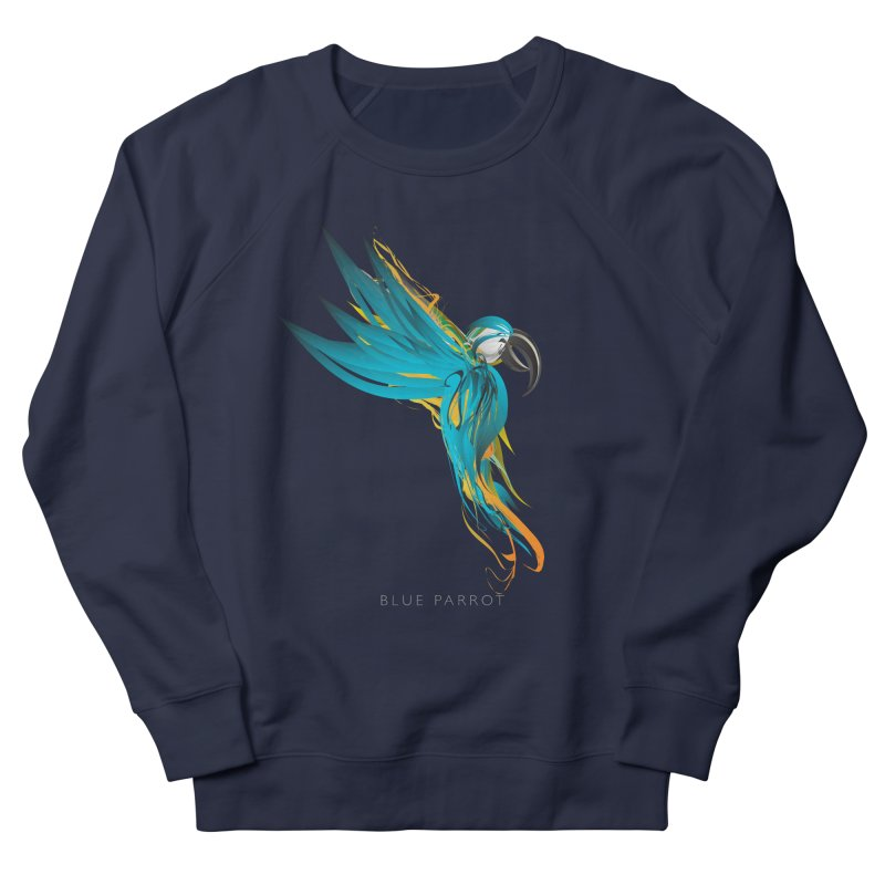 BLUE PARROT Women's French Terry Sweatshirt by mu's Artist Shop