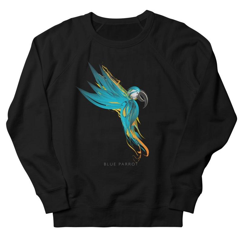 BLUE PARROT Men's French Terry Sweatshirt by mu's Artist Shop
