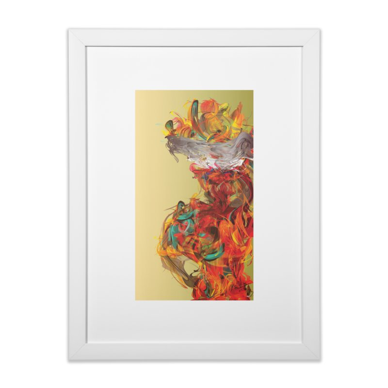 PALENQUERA in Framed Fine Art Print White by mu's Artist Shop