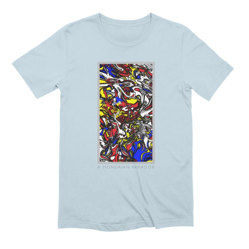 A MONDRIAN PARADOX in Men's Extra Soft T-Shirt Baby Blue by mu's Artist Shop
