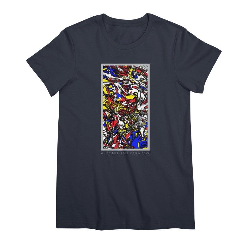 A MONDRIAN PARADOX Women's Premium T-Shirt by mu's Artist Shop