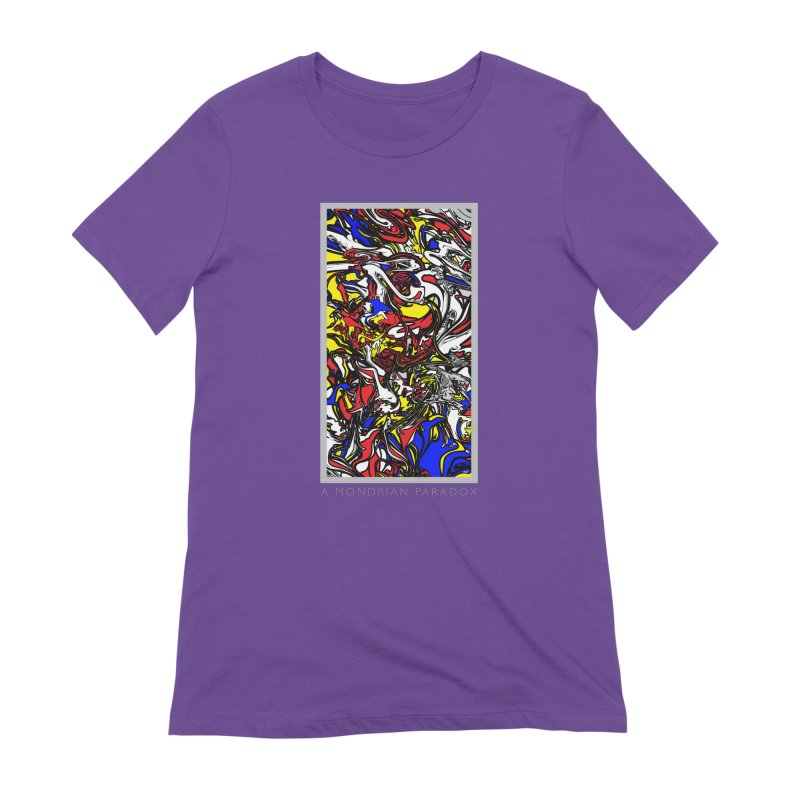 A MONDRIAN PARADOX Women's Extra Soft T-Shirt by mu's Artist Shop